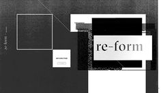 re-form. on Behance #re-form #identity