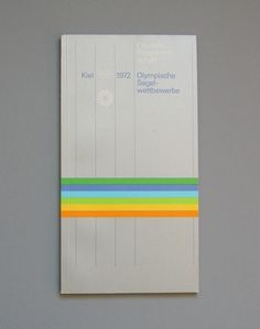Join Bklyn | 1972 Munich Olympics Brochures & Leaflets Designed by Otl Aicher #overview #yachting #lrg #jpg