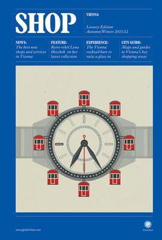 Global blue city guide Austria #illustration #design #austria