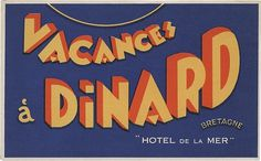 Vacances à Dinard, Bretagne (90mm x 145mm) | Flickr - Photo Sharing! #type