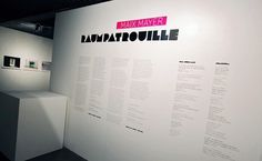 "DONA BARONESA – professional design studio » ""RAUMPATROUILLE"" – photo exhibition #exhibition #wall #description"