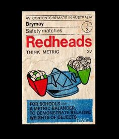 Item 193: Redheads Think Metric set / unknown designer / 1970s « Recollection #australian #design #redheads