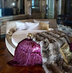 Artistic bed by Roberto Cavalli