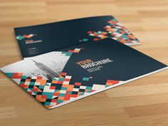 Cool Colorful Squares Brochure. http://goo.gl/d3L6Ob  #brochure #pattern#colorful #design #editorial #inspiration #modern #minimal #simple