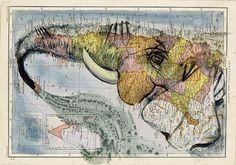 Atlas by Fernando Vicente   InspireFirst #illustration #artworks #maps