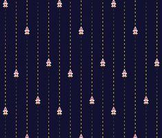 Space Shooter Pinstripe Navy - audsbodkin - Spoonflower #pinstripe #textile