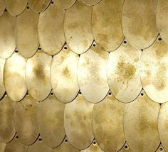 Sequinned wall by Envelop A+D, Erica Tanov store #shiny #pattern #golden #gold