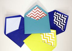 Custom envelopes / Sobres personalizados #personalized #sobre #print #fiesta #party