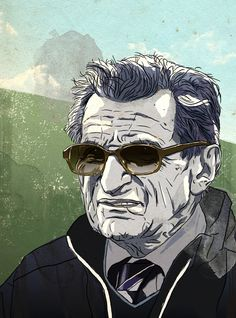 ESPN: Joe Paterno on Behance #glasses #penn #paterno #college #illustration #portrait #coach #joe #state #football
