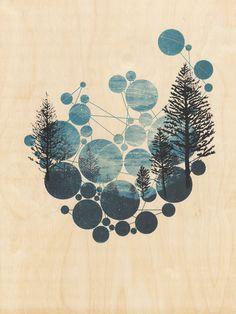 poster, circles, nature, masking
