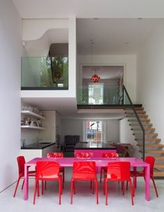 Spaces / stafford villas, london by david mikhail architects. that dinning room set is everything this space needed.