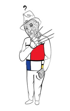 Mondrian Krueger #freddy krueger #mondrian #i dont know why