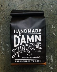 Handmade & Damn HandSome #inspiration #packaging #design #graphic #handmade