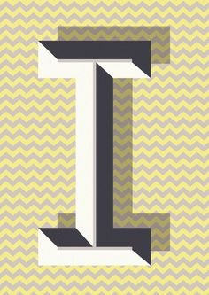 Elegant, Geometric Typography Posters From A Z   DesignTAXI.com