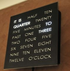 Doug's Word Clocks: Timepieces for Word Lovers & DIY-ers Store Profile ($200-500) - Svpply #clock #type #light #time