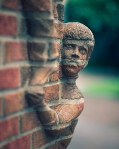 Imaginary Foundation #brick #sculpture #freaky #kid #wall