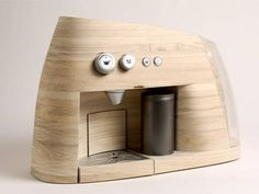 swissmiss | Wooden Espresso Maker #coffee #wood #machine #espresso