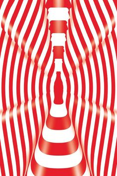 36 Graphic Designs of Coca-Cola Bottles: The Coca-Cola Company #coke #illusion #reinterpret #bottle #coca-cola #classic #retro #graphic #glass #vintage #ad