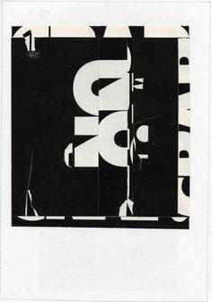 Modcult: Ed Fella #lettering #white #design #bold #black #fella #ed #art #and