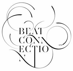 Merchandise Paradise : Beat Connection #music #serifs #flourishes #typography