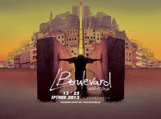 A'ZERO STUDIO / L'BOULEVARD #illustration #casablanca #poster #typography