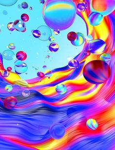 Color bubbles, 3D illustration by Andrei Robu. www.andreirobu.com