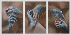 Cara Thayer & Louie Van Patten - Empty Kingdom - Art Blog #touch #fingers #paint #illustration #painting #hands