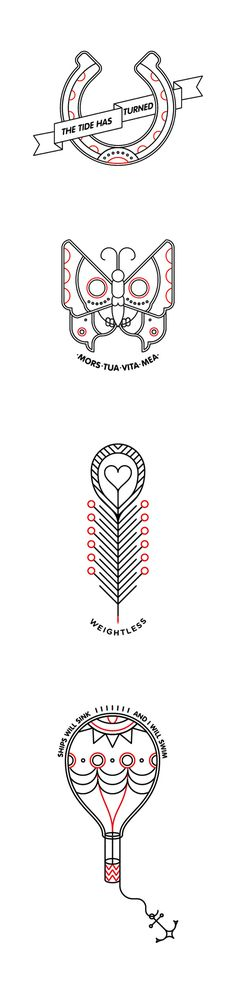 Outline Tattoos #vector #geometry #pictogram #icon #icons #grid #tattoo #tattoos