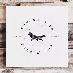 Not so wild #wild #lettering #folk #fox #wood #type #typography