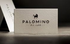 Blog « Superbig Creative #business #card #letterpress #palomino #restaurant #logo #paper