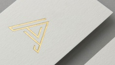 Newcastle Branding, Graphic & Digital Design Projects - Shorthand Studio — Shorthand Studio - Logo - Gold foil business card - letterpress