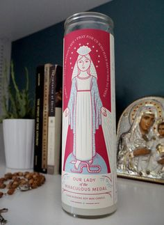 Soy wax Novena candles – Our Lady of the Miraculous Medal