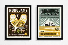 bellwoods, beer, brewery, illustration, eye, owl, farm