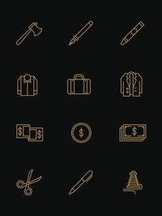 Tim Boelaars — Monicons 2 – 100 icons #writing #icons #symbols #iconography