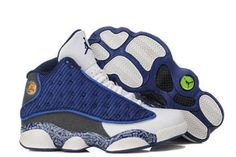 Nike Michael Jordan Brand Women Print Grey & White & Blue Colorways - Flint Basketball Shoes