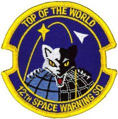 TOP OF THE WORLD 12TH SPACE WARNING SQUADRON #warning #patch #space #military