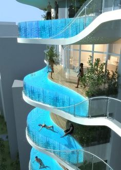 Residential project in Mumbai designed by James Law Cybertecture #edge #infinity #balcony #pool #skyscraper #architecture #swimming