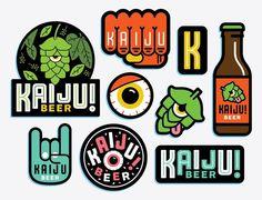 Kaiju Beer #beer #branding