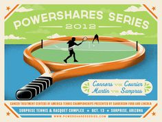 Powershares_detail #illustration #tennis #typography