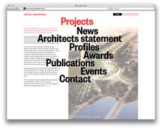Manfredi Website (projectprojects) #design #web