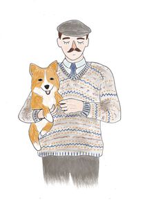 original illustrations for Max (June 2013) #corgi #illustration #men #fashion #knitwear
