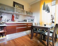 Contemporary interior in kitchen with still life painting #decor #kitchen #for #art #paintings