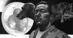 """Trinity"" by Abel Alejandre #blackandwhite #illustration #painting #crosshatching #animal"