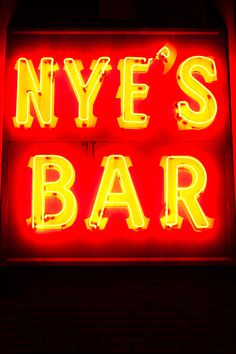 All sizes | Nye's Bar | Flickr Photo Sharing! #divebar #sign #nyes #signage #neon