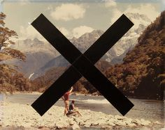 Daniel Du Bern #cross #river #design #graphic #rocks #photography #bank #valley #shore #graphics #mountains