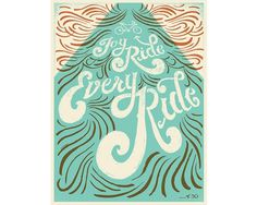 Joy Ride - Mary Kate McDevitt • Hand Lettering and Illustration #lettering #mary #mcdevitt #bike #poster #hand #kate