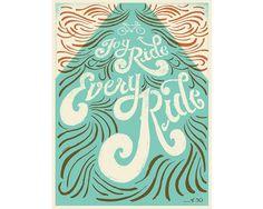 Joy Ride - Mary Kate McDevitt • Hand Lettering and Illustration #poster #bike #hand lettering #mary kate mcdevitt
