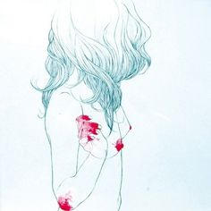 Conrad Roset | Pristina.org | Everything Design #woman #draw #graphic #poster #watercolor