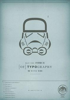 star-wars-typographie-font-affiche-3.jpg 1132×1600 pixels #creative #station #h57 #design #wars #clone #poster #star #type #typography