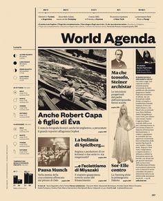All sizes | IL34 — World Agenda | Flickr - Photo Sharing! #layout #typography